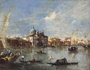 Francesco Guardi The Giudecca with the Zitelle china oil painting reproduction